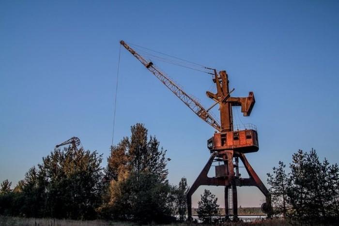 Подъемные краны ЧАЭС (20 фото)