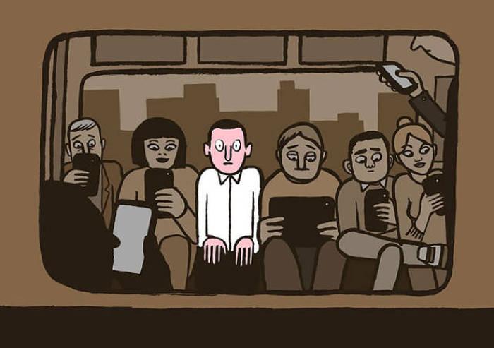 Зависимость современного общества в картинках (43 картинки)