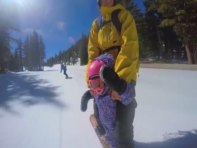 Катание на сноуборде с детьми