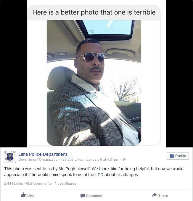 Разыскиваемый преступник прислал полиции более удачное селфи вместо магшота
