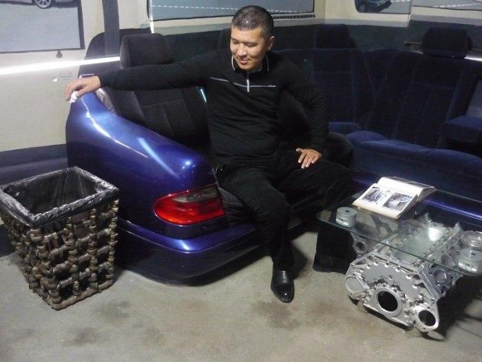Уникальные предметы интерьера, изготовленные на казахской авторазборк (8 фото)