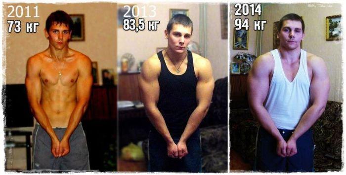 Бывшие «дрыщи» на фото до и после занятий в тренажерном зале (32 фото)