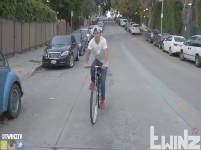 Пранк с бесхозным велосипедом