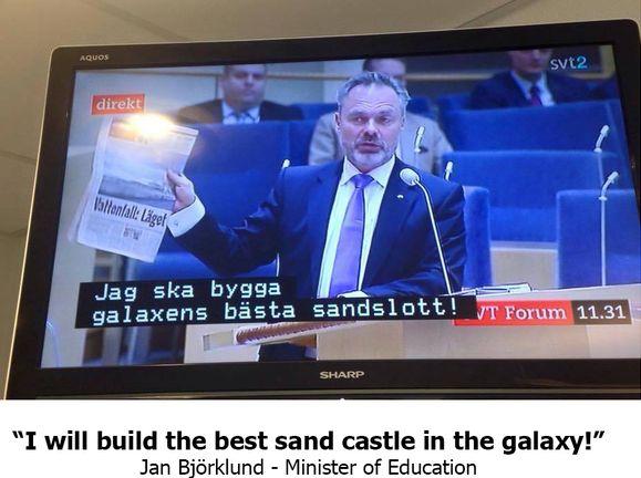 Веселые политические дебаты на шведском телевидении (9 фото)
