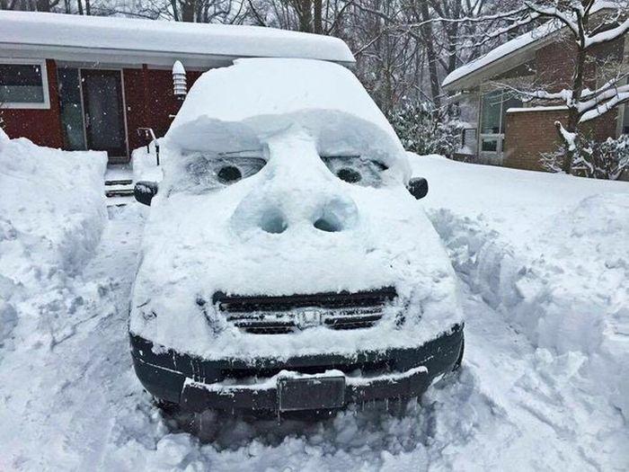 Восток США пострадал от снежной бури (42 фото + 3 видео)