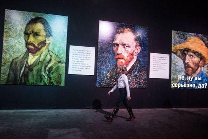 На московскую выставку Ван Гога девушек в «лабутенах» пустят бесплатно (2 фото + видео)