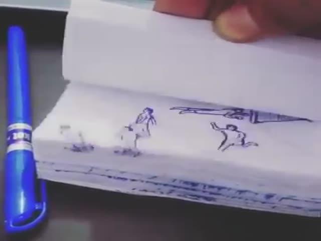 Фанат Лионеля Месси воссоздал его гол при помощи анимации