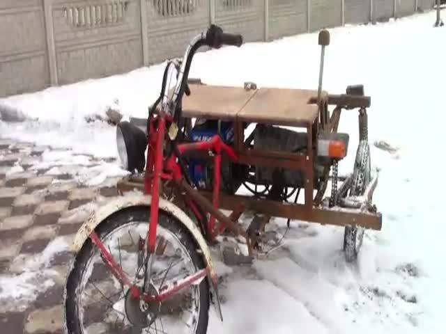 14-летний парень построил 300-кубовый трицикл