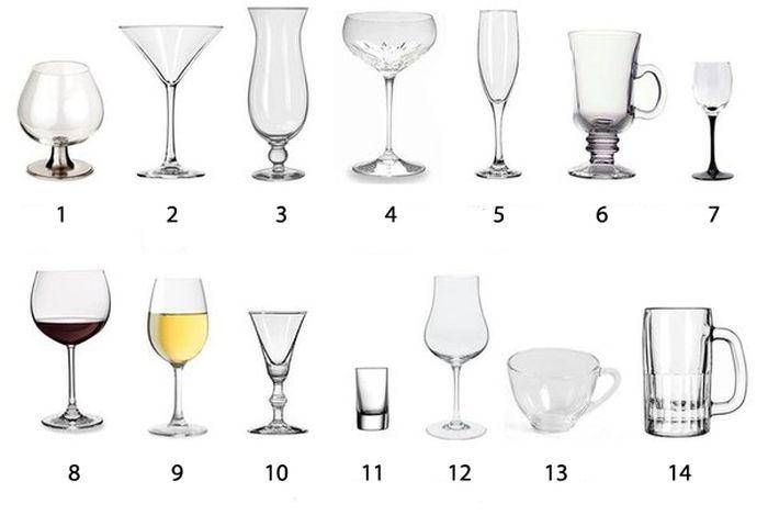 Какой из бокалов официально используется для коньяка? (2 фото)