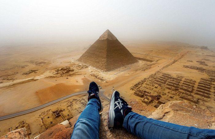 Руфер Андрей Чисельский забрался на Великую пирамиду в Гизе (3 фото + видео)