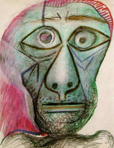 Автопортреты Пабло Пикассо, написанные им в 16 лет и 72 года (2 фото)