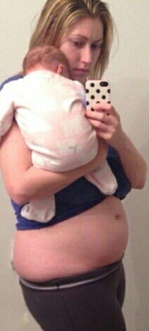 Молодая мать взяла себя в руки и вернулась в отличную форму (2 фото)