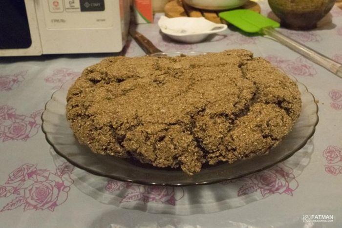 Блокадный хлеб в домашних условиях (14 фото)