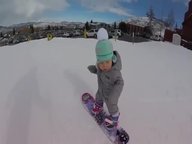 Годовалый сноубордист
