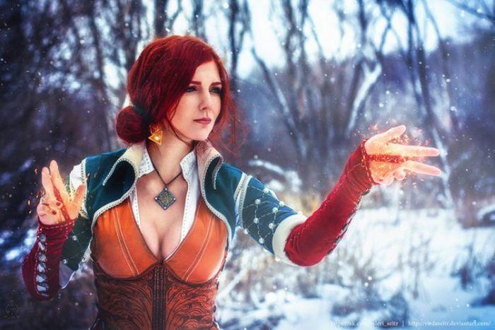 Отличный косплей на Трисс Меригольд из «Ведьмака» (8 фото)