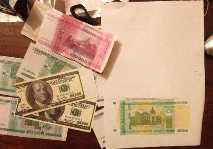В Белоруссии учительница случайно рассчиталась купюрой, напечатанной на принтере (3 фото)