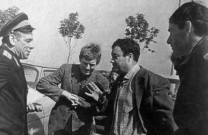 Редкие кадры со съемочных площадок советских кинолент (16 фото)