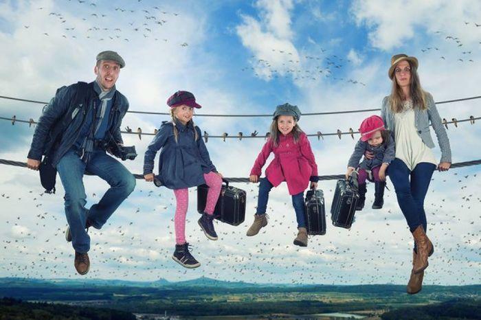Отец создает удивительные изображения детей при помощи фотошопа (20 фото)