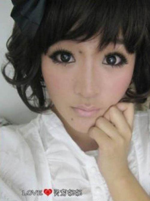 Невероятное преображение азиатки при помощи макияжа (4 фото)