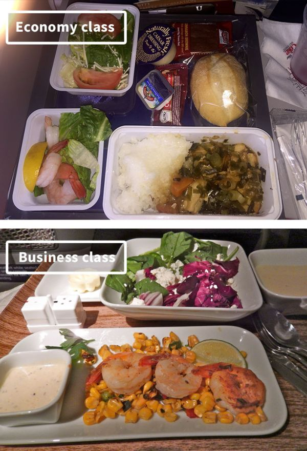 Чем кормят своих пассажиров различные авиакомпании (19 фото)