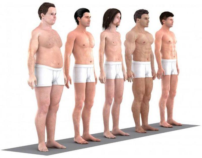 Как за минувшие 145 лет изменились представления об идеальном мужском теле (13 фото + текст)