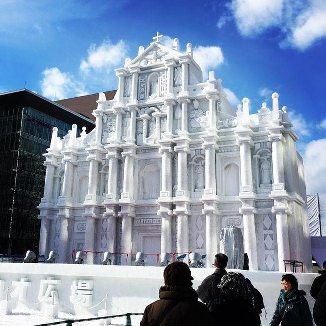 В Японии открылся снежный фестиваль Sapporo Snow Festival (15 фото)