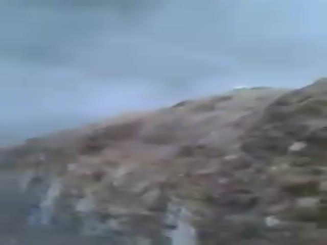 Последствия авиаудара ВВС России. Вид от первого лица