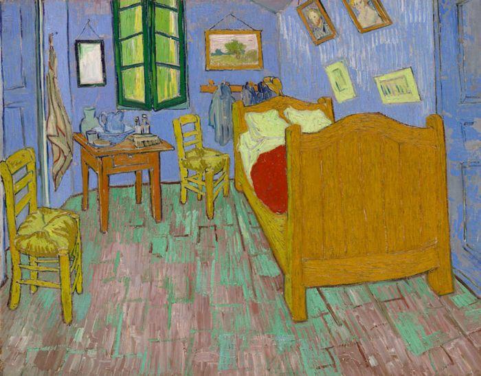 В Чикагском институте искусств воссоздали комнату с картины Ван Гога «Спальня в Арле» (6 фото)