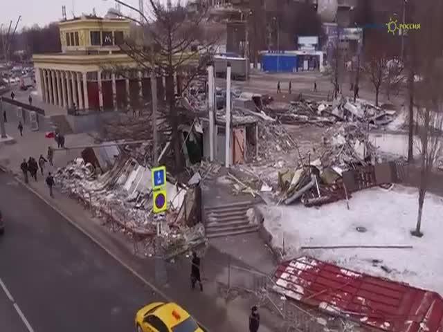 Разрушенные торговые точки Москвы