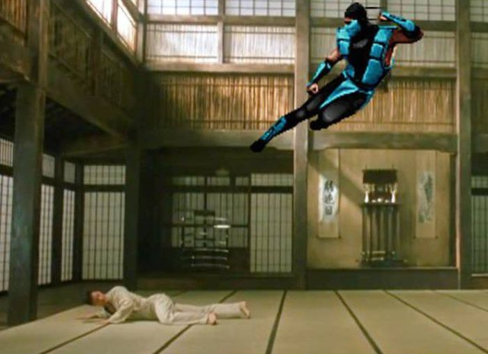 Забавные фейлы в гифках с участием персонажей Mortal Kombat (14 гифок)