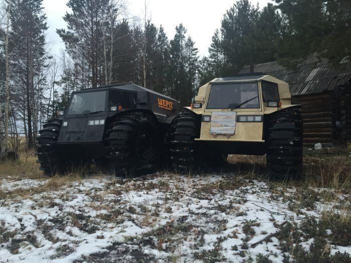 Уникальный российский вездеход «Шерп» (11 фото + видео)