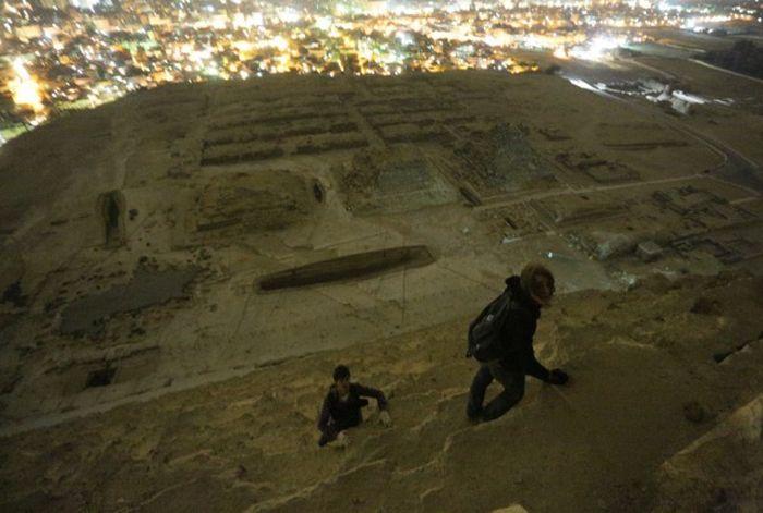 Почему нельзя забираться на египетские пирамиды (43 фото + 7 видео)