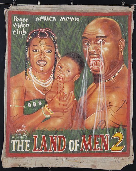 Африканские киноплакаты 90-х - 2000-х годов (11 фото)
