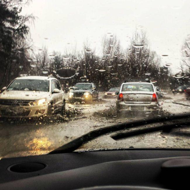 Аномальная погода в Москве (7 фото + видео)