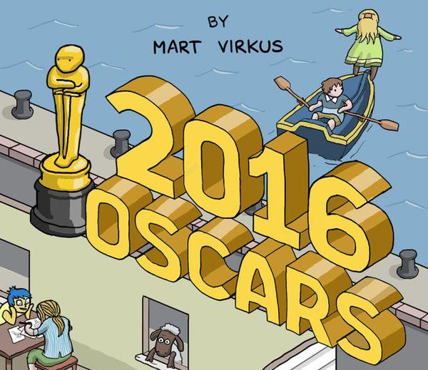 Герои всех фильмов, номинированных на «Оскар-2016», в одном забавном рисунке (картинка)