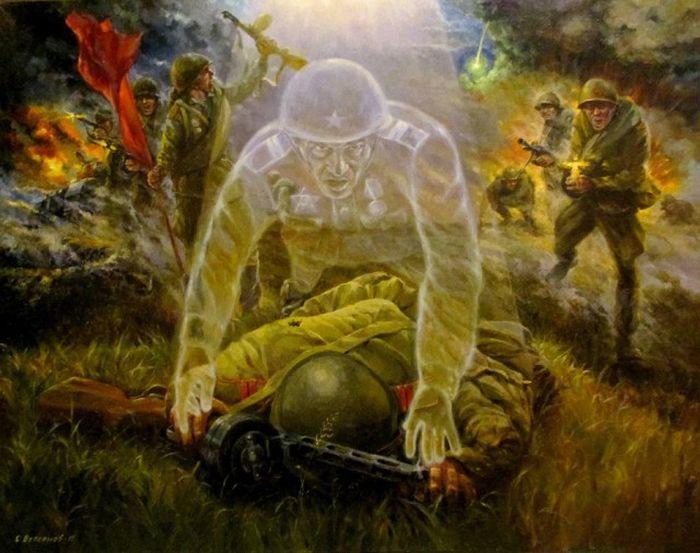 Картины на тему Великой Отечественной войны от Сергея Бессонова (3 фото)