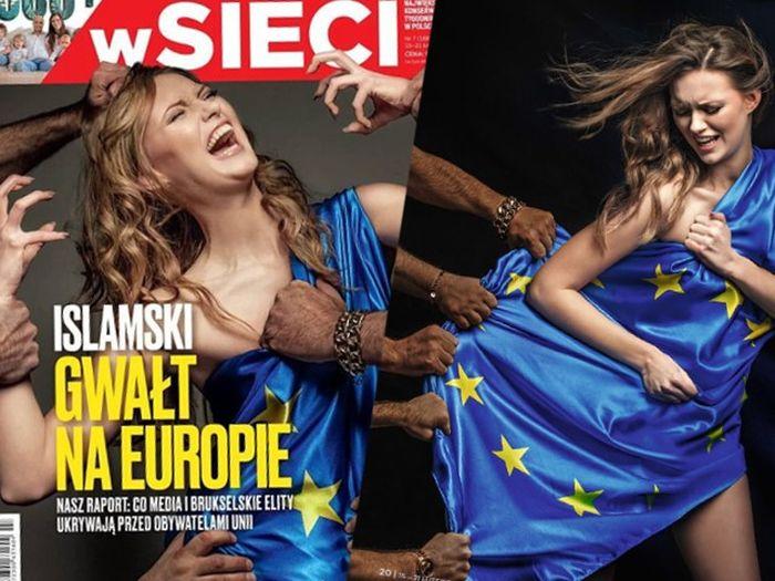 Обложка журнала с «изнасилованием» Европы стала причиной громкого скандала (2 фото)