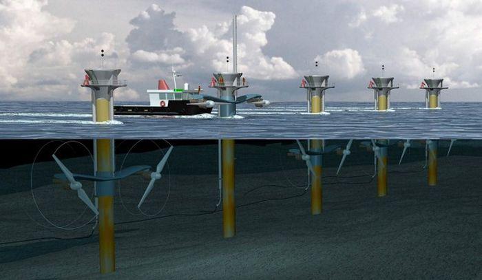 Самый большой подводный ветрогенератор в мире (10 фото)