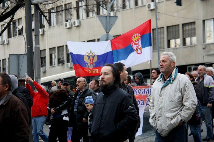 В Белграде прошел митинг против сближения Сербии с НАТО (13 фото + видео)