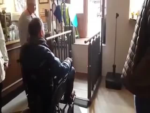 Трансформирующаяся лестница для инвалидов