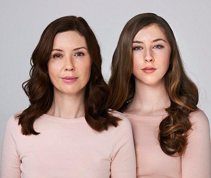 Невероятное сходство дочек и мам (10 фото)