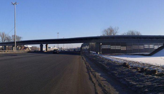 Незаконченная эстакада на Ярославском шоссе (4 фото)