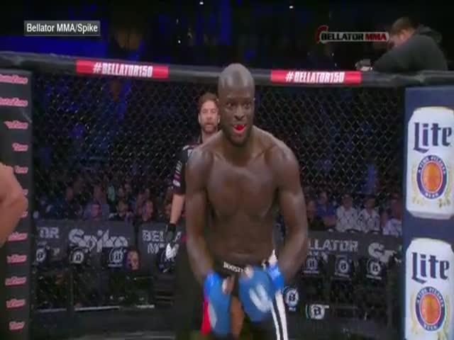 Боец MMA Грегори Бабен случайно ударил судью