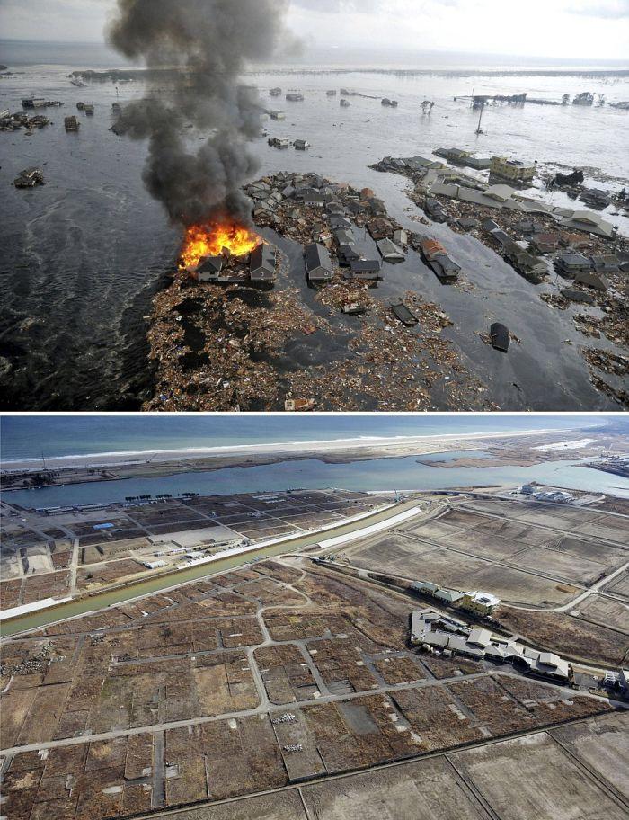 Как выглядят ближайшие к Фукусиме города спустя 5 лет после аварии (5 фото + видео)
