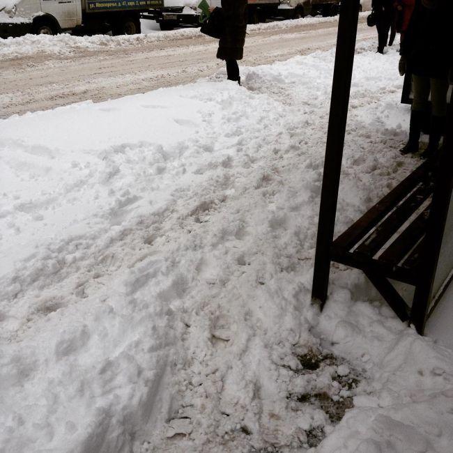 Сильный снегопад частично парализовал движение в Москве (13 фото)