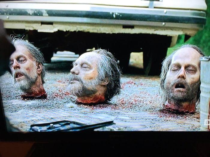 В сериале «Ходячие мертвецы» показали отрубленную голову с лицом Джонни Деппа (5 фото)