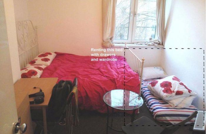 В Лондоне предлагают арендовать угол в комнате с матрасом на полу за 430 фунтов стерлингов (фото)