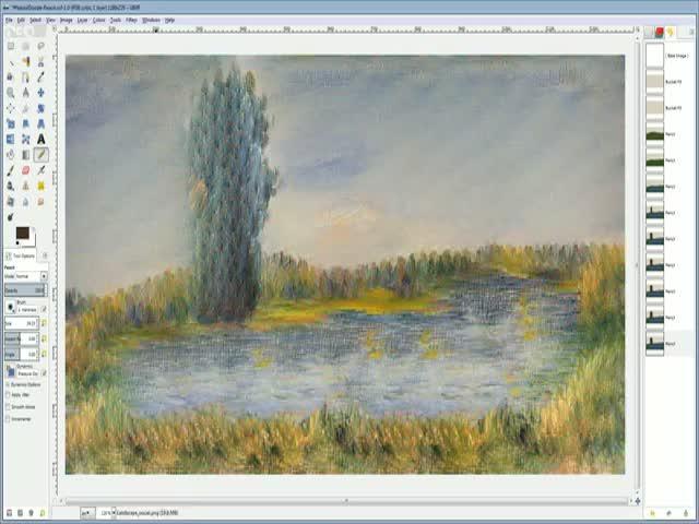 Компьютерная программа, превращающая рисунки пользователя в произведения искусства