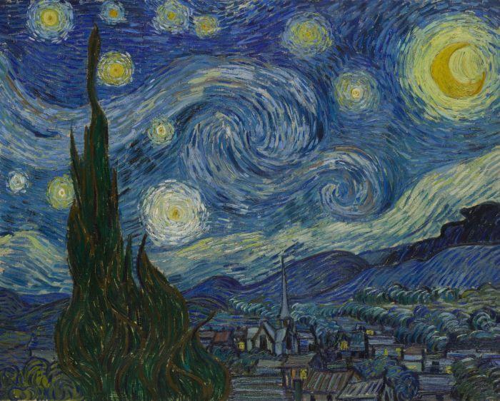 Спустя более 100 лет удалось понять, что изображено на картине Ван Гога «Звездная ночь» (6 гифок)