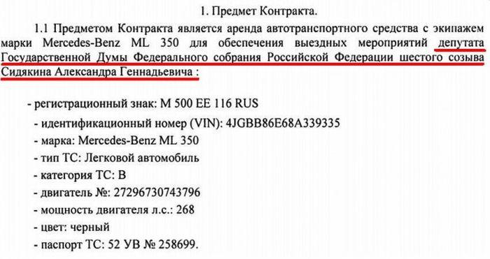 Аренда автомобиля для рабочих поездок депутата Александра Сидякина ежемесячно обходится в 100 000 рублей (3 фото)
